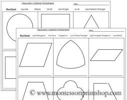 Geometry Cabinet Worksheets Worksheets For The Geometry