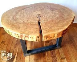 live edge round coffee table live edge round table large size of coffee wood furniture live