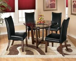 glass dining room table with leather chairs. ashley dining table   tall chairs larchmont glass room with leather