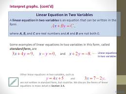 5 linear equation in two variables