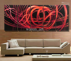 2017 modern contemporary abstract painting metal wall art painting contemporary wall art on chinese metal wall art uk with sunset 18 x 36 abstract acrylic painting contemporary wall super tech