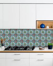 stick wall tiles quotxquot: green sticker set mexican tile tile stickers decorative tiles wall stickers