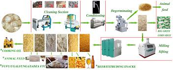 Rice Milling Flow Chart Technical Flow Chart For Maize Flour Production Line In 2019