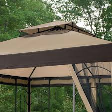 essential garden gazebo. Gazebo Design, Marvelous 10x10 Replacement Canopy With Netting Mosquito For 13x13 Kmart Essential Garden |