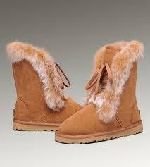 ... UGG Fox Fur Short Boots 3586 Chestnut Hot Sale ...