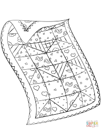 Small Picture Quilt Patterns Coloring Pages Throughout Quilt Coloring Pages