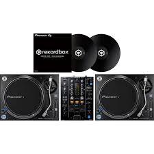 pioneer turntables. pioneer plx1000 turntables, djm-450 mixer + dvs \u0026 control vinyls turntables