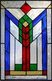 southwest panel 5 geometric stained glass panel southwest
