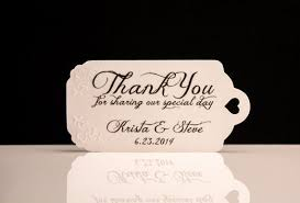 thank you tags for wedding favors wedding favors stunning wedding favor tag personalized labels
