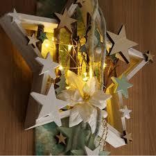 Stern Mit Beleuchtung Fensterdeko Türschmuck Mit Vogel Zweigen Bäume D 31 Cm
