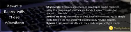 websites to rewrite text reword my essay for me