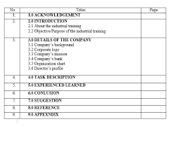 Final report industrial training