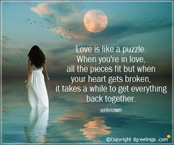 Sad Love Quotes Simple Love Is Like Puzzle Sad Love Quotes