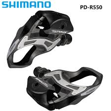 Hot Sale <b>Shimano R550 SPD</b> SL Clipless Road Pedals Cycling ...