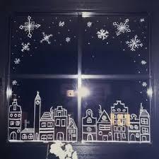 Weihnachten Kreidestift Kreide Chalkboard Schneeflocken