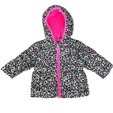healthtex infant girls leopard cheetah animal print winter coat bubble puffer jacket 18m size 18 months com