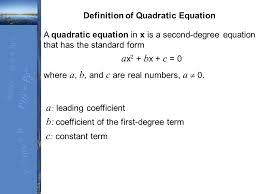 section 4 1 solving quadratic equations 3 where