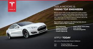 tesla caigns australia tesla motors flyer for recruiting