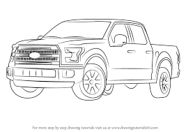 Learn How to Draw Ford F-150 Truck (Trucks) Step by Step : Drawing ...