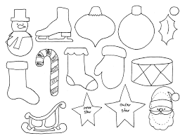 advent sew along ornament templates