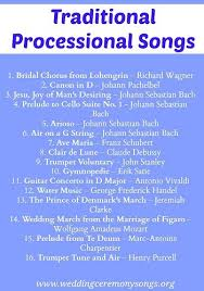 wedding recessional songs. Processional Songs Wedding Processional Songs Pinterest