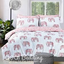 pink elephant print duvet set and pillowcase bedding set duvet sets complete bedding sets bed sheets pillowcase