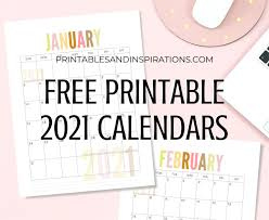 Please select your options to create a calendar. List Of Free Printable 2021 Calendar Pdf Printables And Inspirations