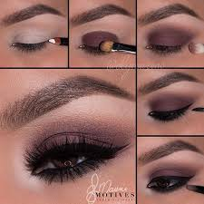 brown eye makeup via