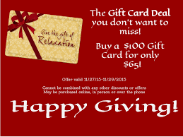 gift card deal by spa manager