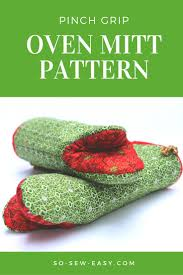 Oven Mitt Pattern Fascinating Pinch Grip Oven Mitt Pattern Or Puppet Show So Sew Easy
