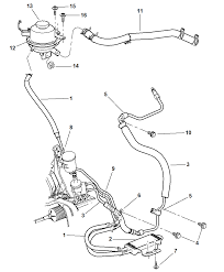 2002 chrysler town country power steering hoses diagram 00i60203