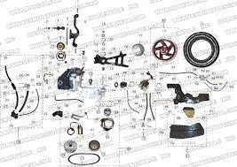 roketa mc engine and rear wheel assembly parts