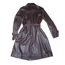 gerard darel trench coats trench coats lambskin dark brown ref 62601 joli closet