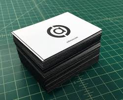 Letter Press Business Card Aobvious Edge Painted Letterpress Business Card Remco Press