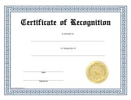 free recognition certificates recognition certificate free printable allfreeprintable com