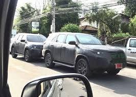 new car 2016 thai2016 Toyota Fortuner spied with Isuzu MUX in Thailand