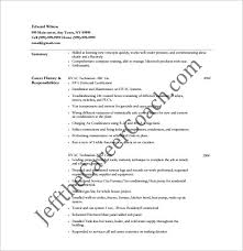 Sample Resume Format Pdf Interesting HVAC Resume Template 48 Free Word Excel PDF Format Download