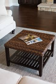 Seagrass Living Room Furniture Brown Seagrass Coffee Table Square Shape Placed At Your Living