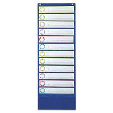 Carson Dellosa Deluxe Scheduling Pocket Chart Deluxe Scheduling Pocket Chart 12 Pockets 13 X 36