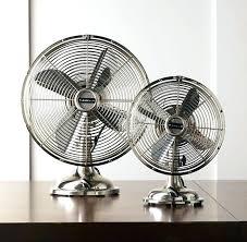 retro desk fan in brushed nickel swan blue oscillating retro desk fan