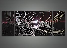 electric desgn shining perfect look five panels line abstract astounding metal modern wall art sculptures unbelievable on abstract metal wall art sculpture with wall art best metal wall art modern to decor your home contemporary