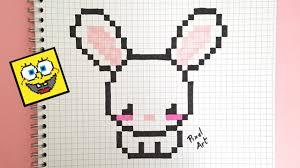 Pixel Art Lapin Kawaii Youtube