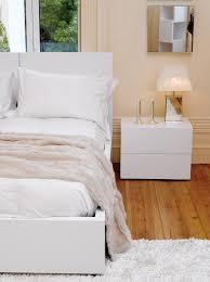 High Float Float 2 Drawer Nightstand High Gloss White Tema Home Modern