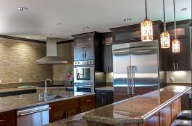 Black Granite Countertops With Tile Backsplash New 48 Remarkable Kitchens With Dark Cabinets And Dark Granite GREAT