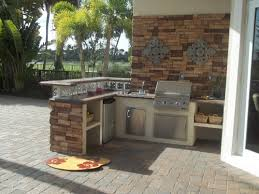 Good Kitchen : Awesome Outdoor Kitchen Ideas With Boral Cultured Stone Frames  Glass Block Decor Curves Dinette Nice Ideas