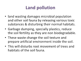 an essay about land pollution