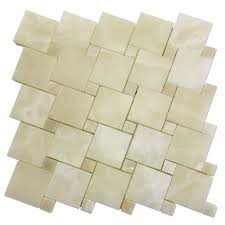 Hopscotch Tile Pattern Custom White Onyx Hopscotch Pattern With Dots Mosaic Tile Mosaic Tile Center