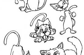 Small Picture Cats And Dogs Coloring Coloring Pages