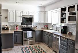 Home Design:Kitchen Two Color Kitchen Cabinets Wonderful Best Tone Dreaded  kitchen with two color
