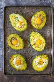 baked eggs in avocado delicious